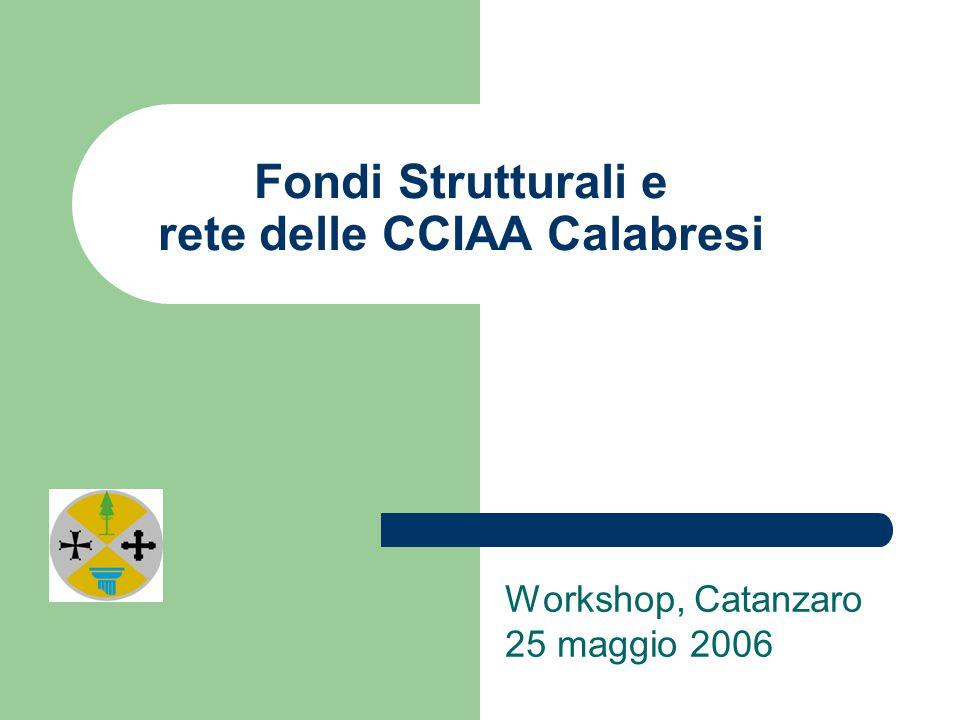 Fondi Strutturali e rete delle CCIAA Calabresi Workshop, Catanzaro 25 maggio 2006