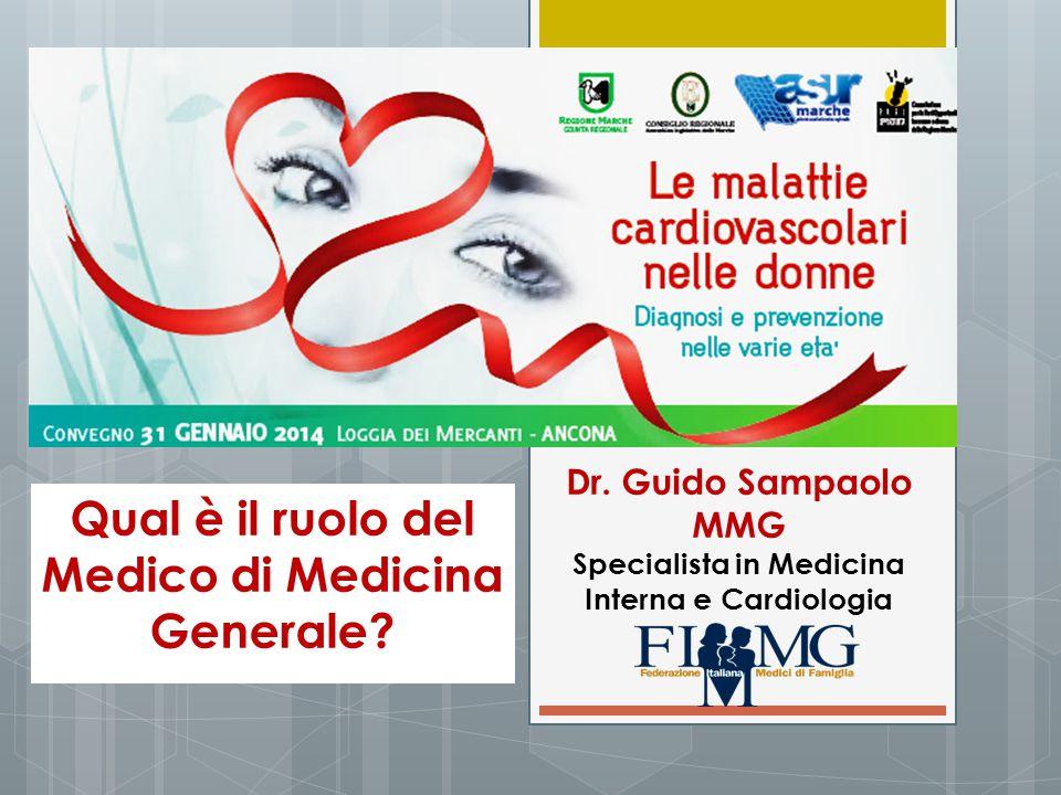Qual è il ruolo del Medico di Medicina Generale? Dr. Guido Sampaolo MMG Specialista in Medicina Interna e Cardiologia