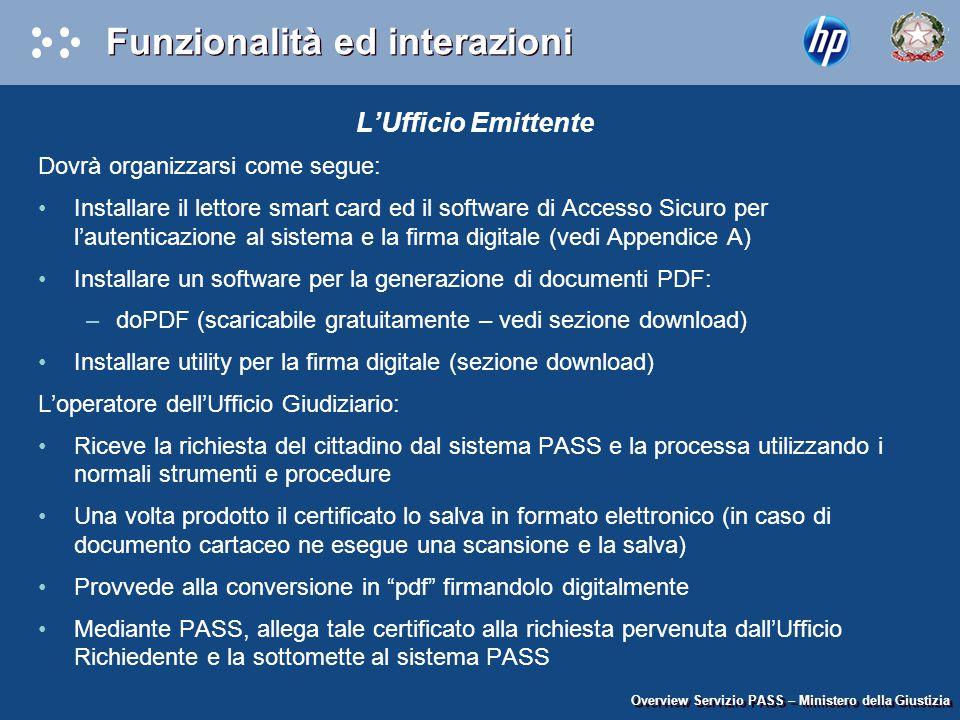 L'Ufficio Emittente Dovrà organizzarsi come segue: Installare il lettore smart card ed il software di Accesso Sicuro per l'autenticazione al sistema e