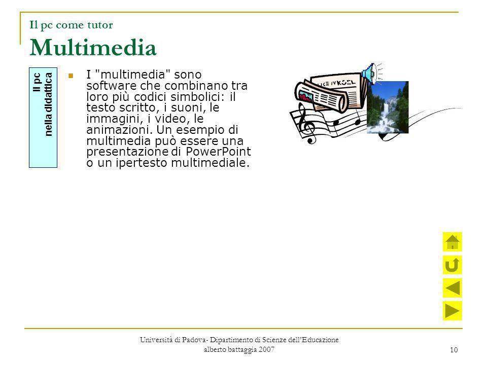 10 Il pc come tutor Multimedia I