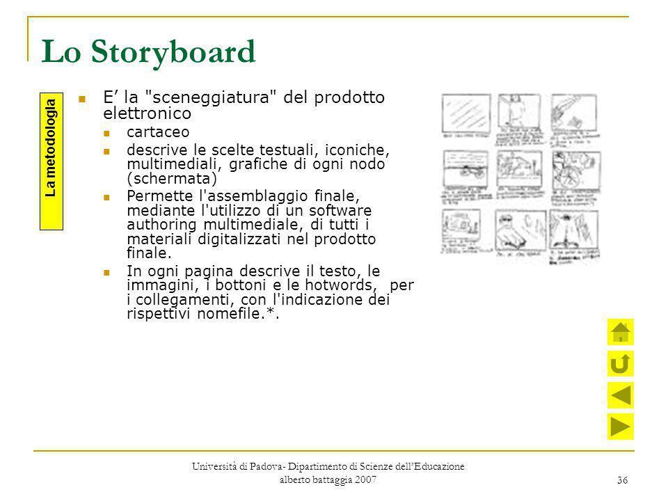 36 Lo Storyboard E' la
