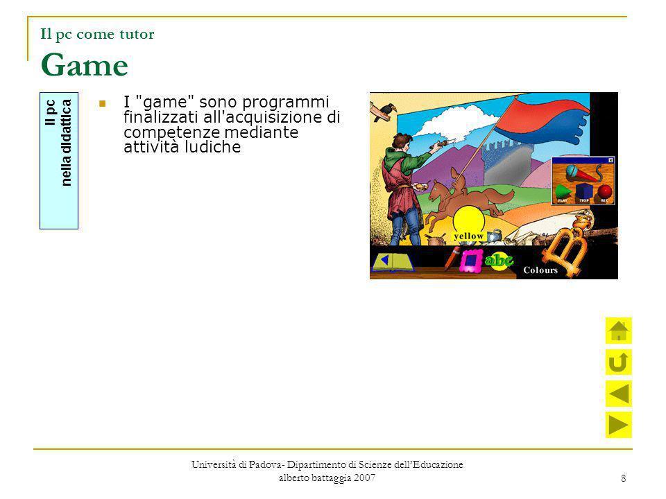 29 argomento mappa ricerca reticolo modularizzazione storyboard realizzazione valutazione La metodologia Università di Padova- Dipartimento di Scienze dell'Educazione alberto battaggia 2007