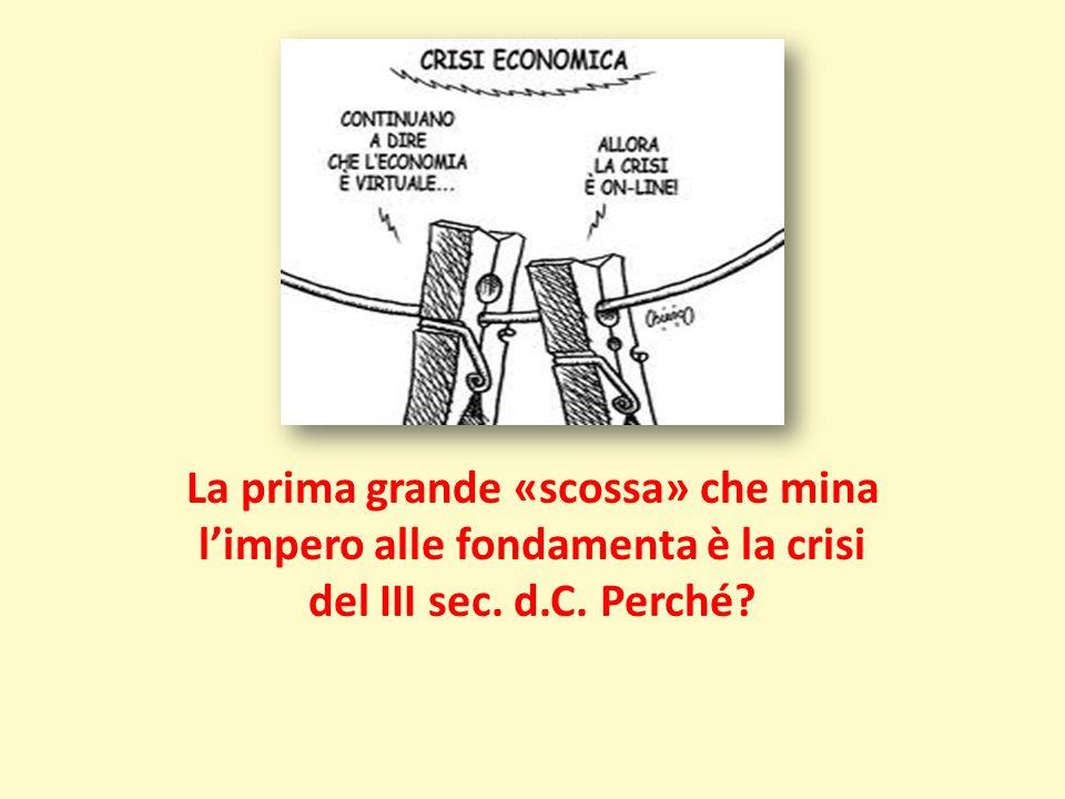 La prima grande «scossa» che mina l'impero alle fondamenta è la crisi del III sec. d.C. Perché?