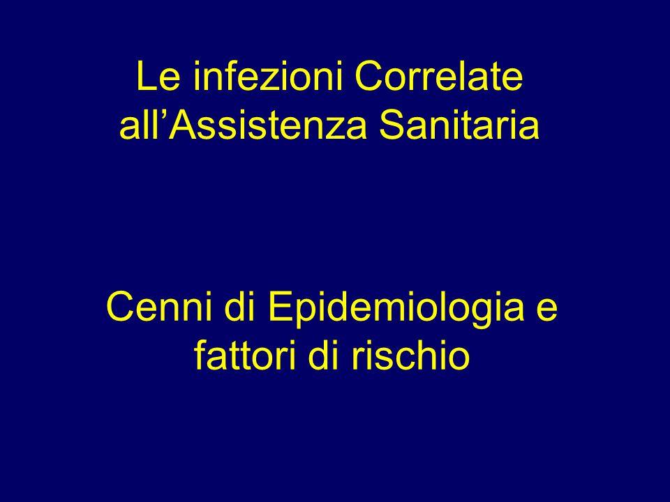 Le infezioni Correlate all'Assistenza Sanitaria Cenni di Epidemiologia e fattori di rischio