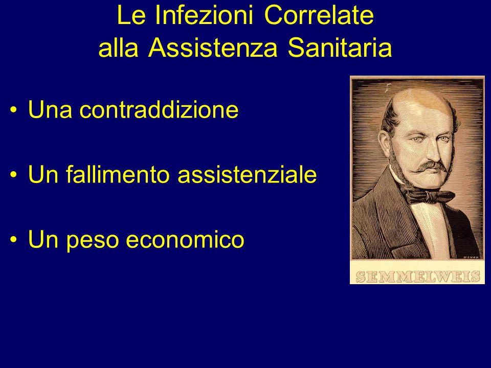 Le Infezioni Correlate alla Assistenza Sanitaria Una contraddizione Un fallimento assistenziale Un peso economico