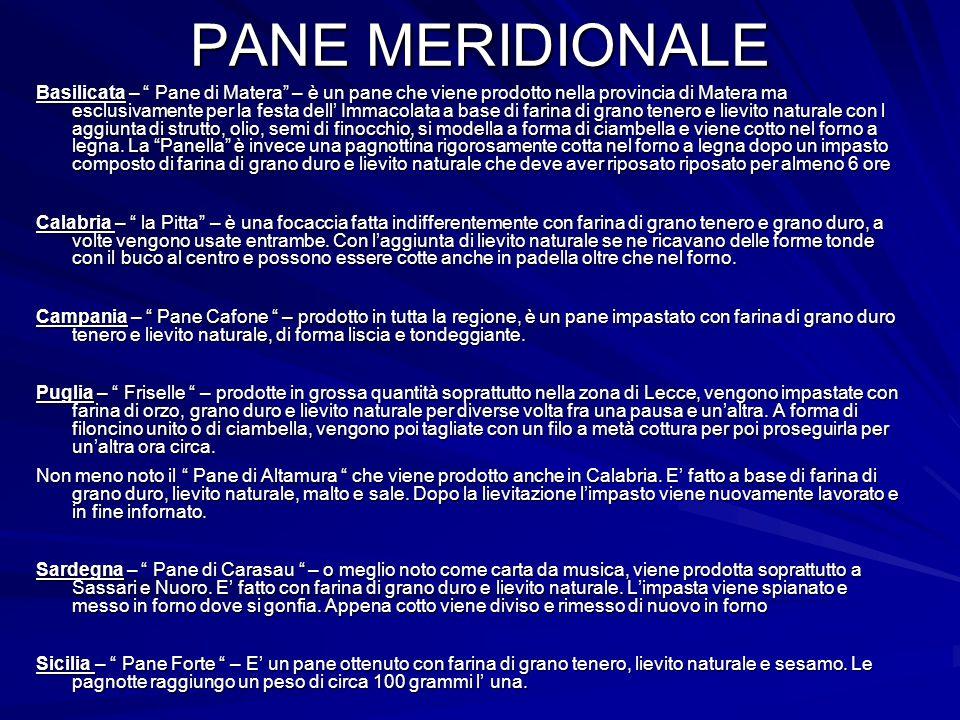 """PANE MERIDIONALE Basilicata – """" Pane di Matera"""" – è un pane che viene prodotto nella provincia di Matera ma esclusivamente per la festa dell' Immacola"""