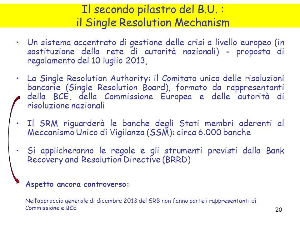 20 Un sistema accentrato di gestione delle crisi a livello europeo (in sostituzione della rete di autorità nazionali) - proposta di regolamento del 10