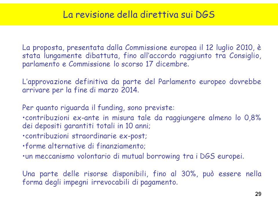 29 La proposta, presentata dalla Commissione europea il 12 luglio 2010, è stata lungamente dibattuta, fino all'accordo raggiunto tra Consiglio, parlam