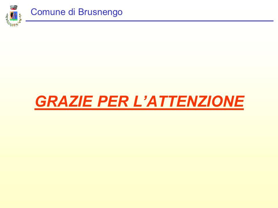 Comune di Brusnengo GRAZIE PER L'ATTENZIONE