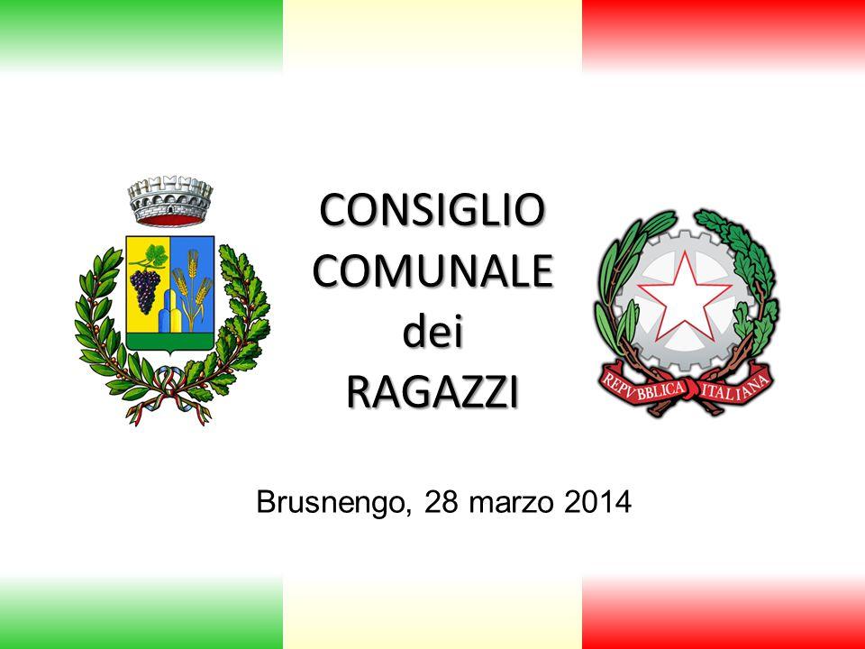 CONSIGLIO COMUNALE dei RAGAZZI Brusnengo, 28 marzo 2014