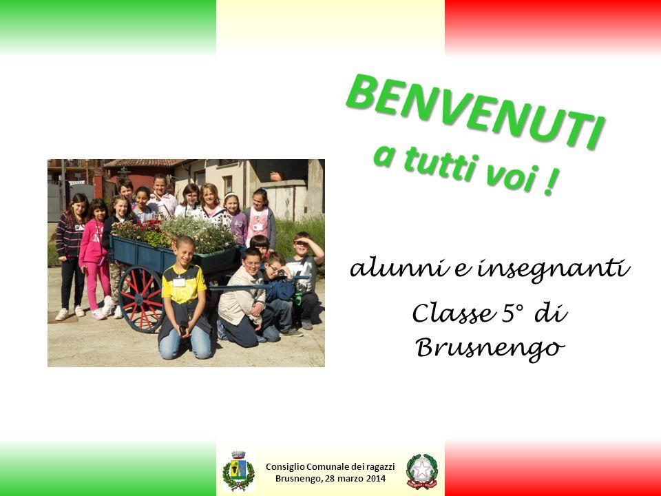 Consiglio Comunale dei ragazzi Brusnengo, 28 marzo 2014 alunni e insegnanti Classe 5° di Brusnengo