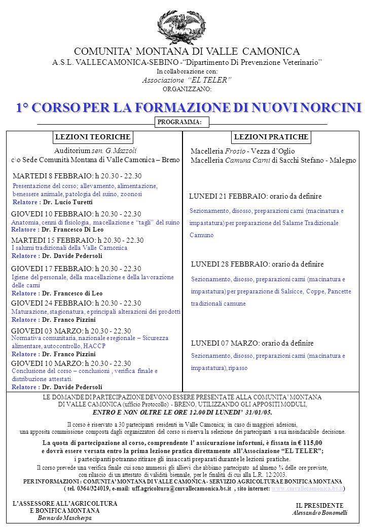 COMUNITA' MONTANA DI VALLE CAMONICA A.S.L.