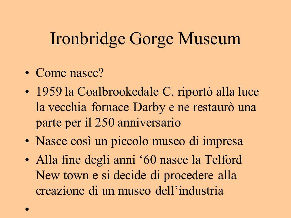 Ironbridge Gorge Museum Come nasce. 1959 la Coalbrookedale C.
