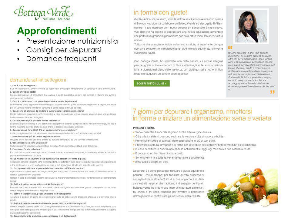 Approfondimenti Presentazione nutrizionista Consigli per depurarsi Domande frequenti