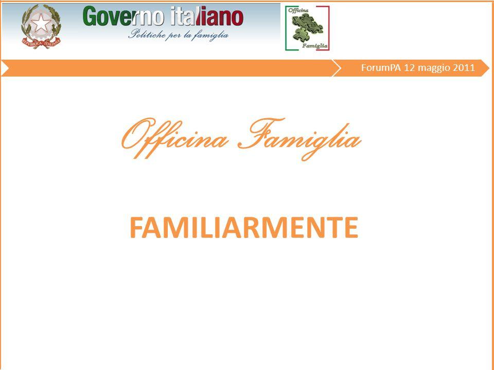 Officina Famiglia ForumPA 12 maggio 2011 FAMILIARMENTE