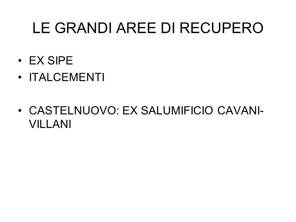 LE GRANDI AREE DI RECUPERO EX SIPE ITALCEMENTI CASTELNUOVO: EX SALUMIFICIO CAVANI- VILLANI