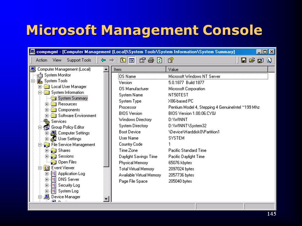 145 Microsoft Management Console