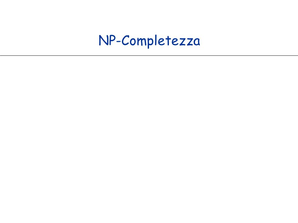 NP-Completezza