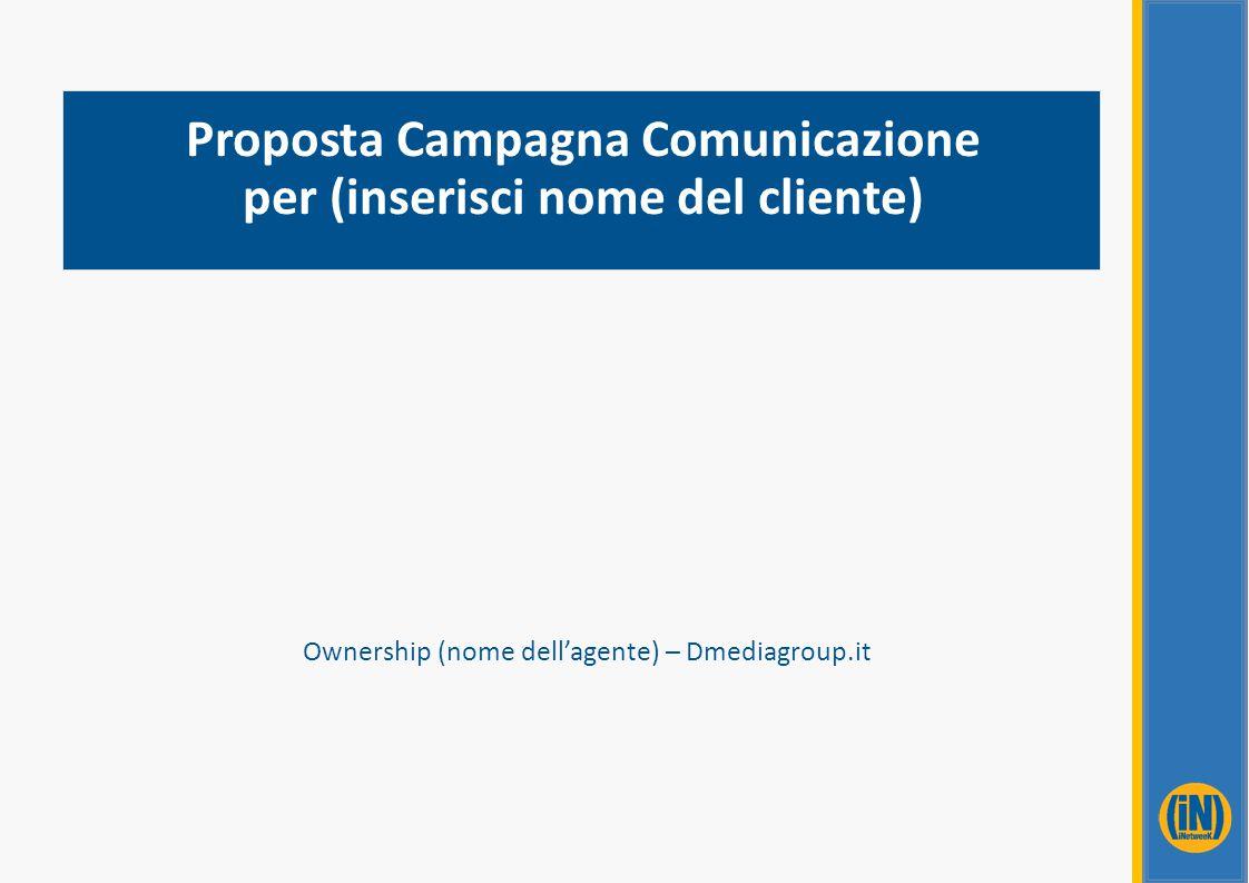 Proposta Campagna Comunicazione per (inserisci nome del cliente) Ownership (nome dell'agente) – Dmediagroup.it