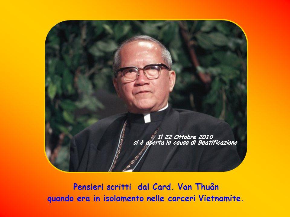 Francis Xavier Nguyen Van Thuân ne era assolutamente convinto.