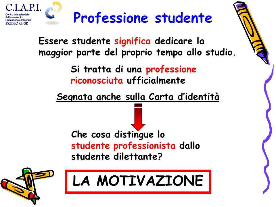 Essere studente significa dedicare la maggior parte del proprio tempo allo studio.