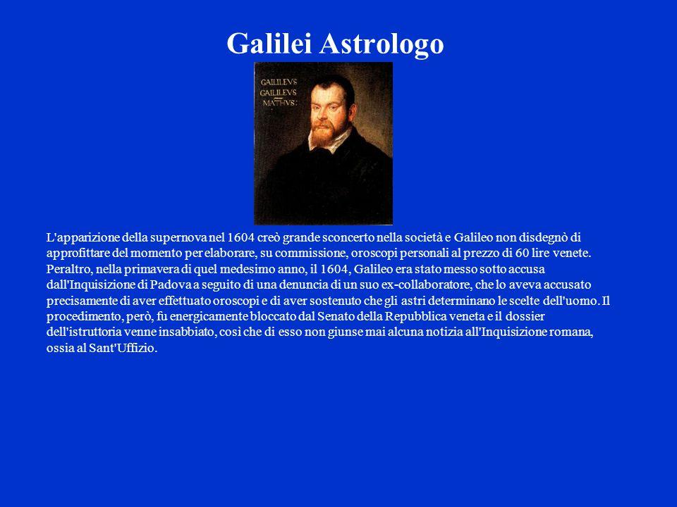 L'apparizione della supernova nel 1604 creò grande sconcerto nella società e Galileo non disdegnò di approfittare del momento per elaborare, su commis