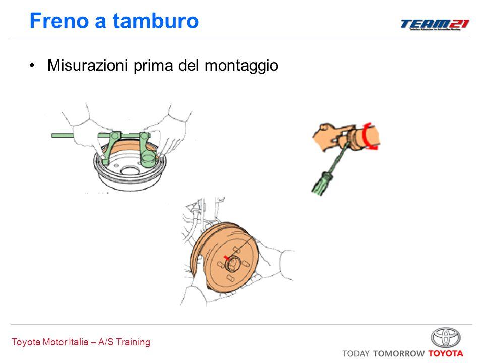 Toyota Motor Italia – A/S Training Freno a tamburo Misurazioni prima del montaggio