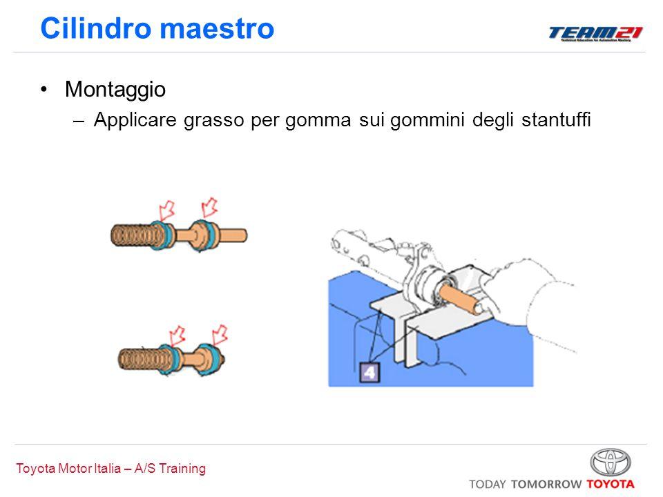 Toyota Motor Italia – A/S Training Cilindro maestro Montaggio –Applicare grasso per gomma sui gommini degli stantuffi