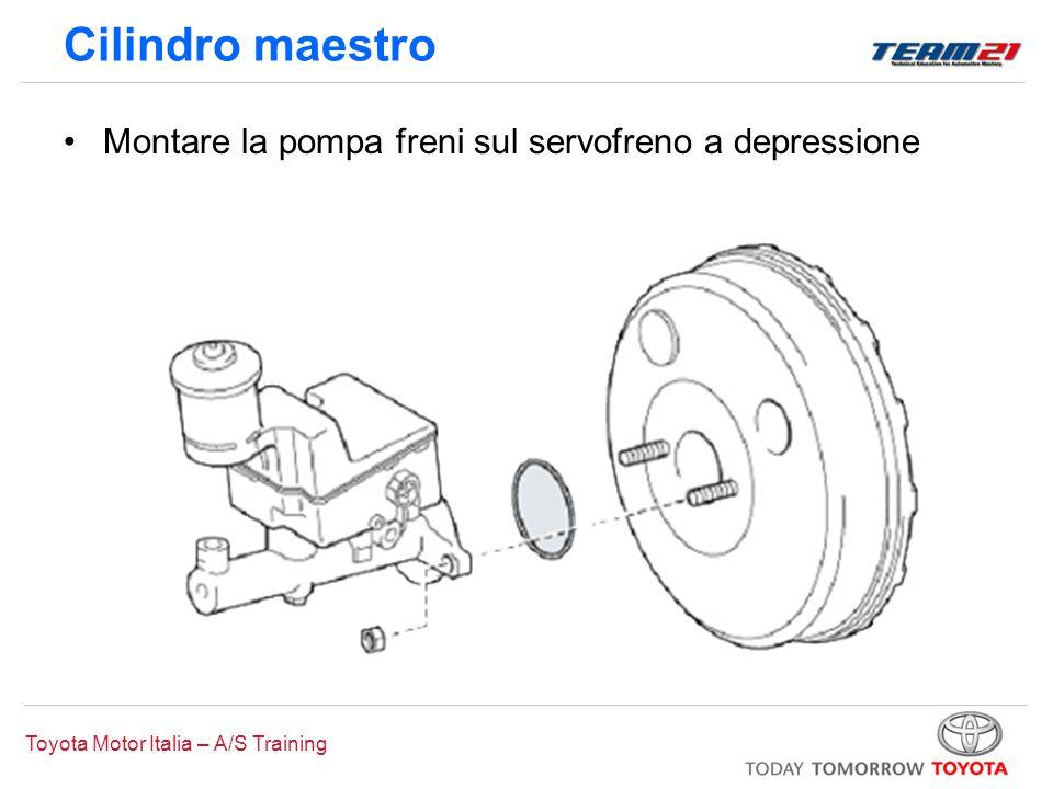 Toyota Motor Italia – A/S Training Cilindro maestro Montare la pompa freni sul servofreno a depressione