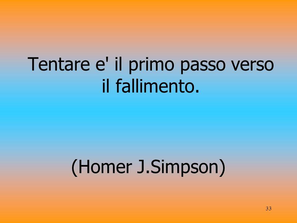 33 Tentare e il primo passo verso il fallimento. (Homer J.Simpson)