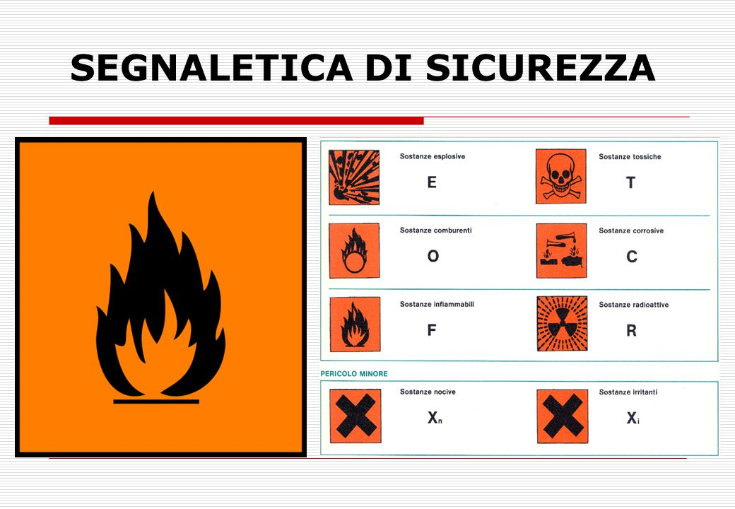 SEGNALETICA DI SICUREZZA ..
