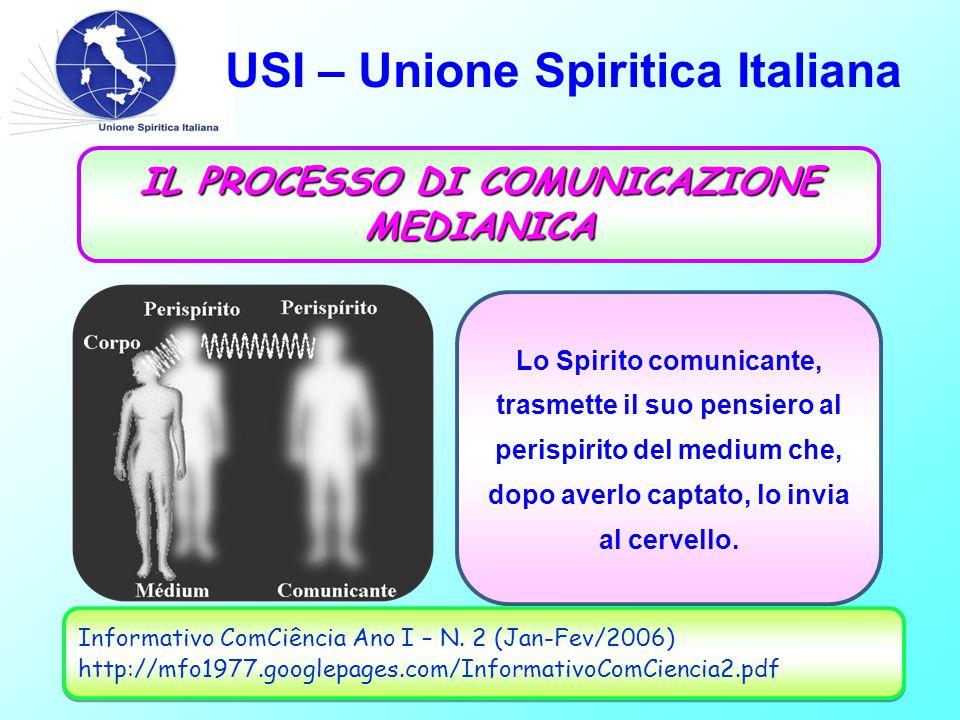 USI – Unione Spiritica Italiana La medianità é la facoltà umana, naturale, con la quale si stabiliscono le relazioni tra uomini e Spiriti. (PIRES, J.