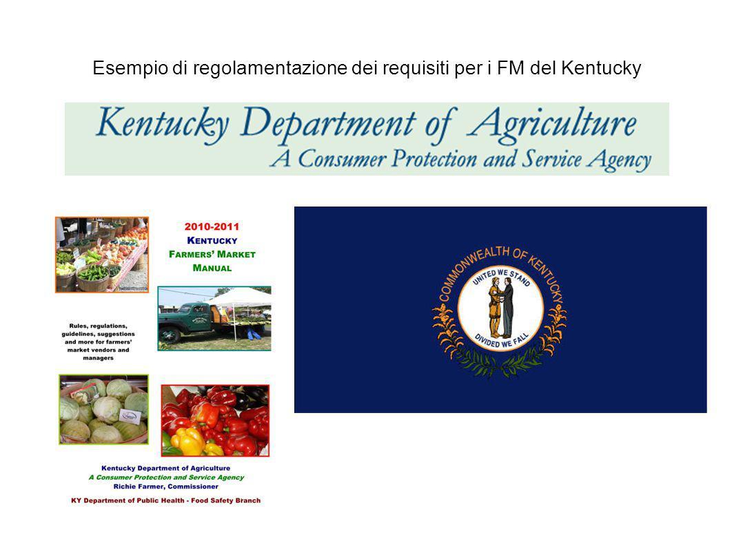 Esempio di regolamentazione dei requisiti per i FM del Kentucky