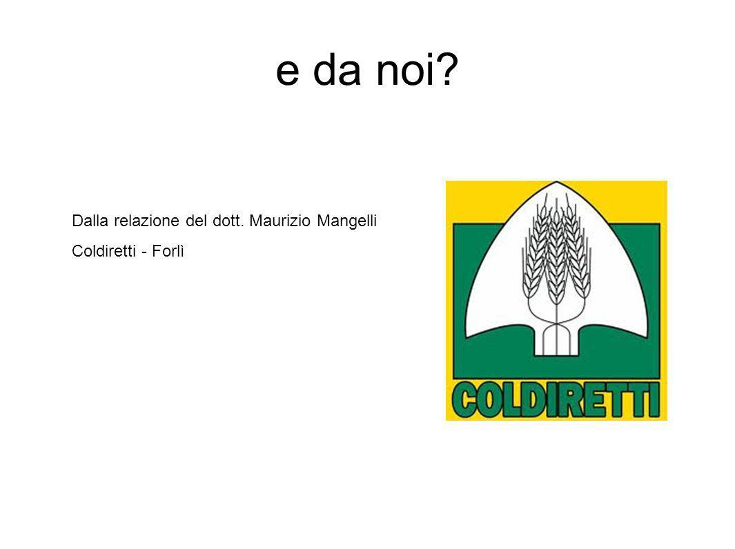e da noi Dalla relazione del dott. Maurizio Mangelli Coldiretti - Forlì