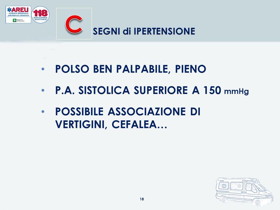 18 POLSO BEN PALPABILE, PIENO P.A.