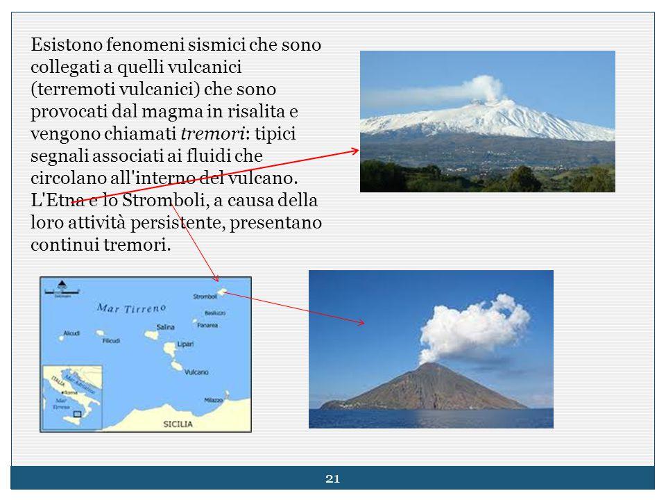 Esistono fenomeni sismici che sono collegati a quelli vulcanici (terremoti vulcanici) che sono provocati dal magma in risalita e vengono chiamati trem