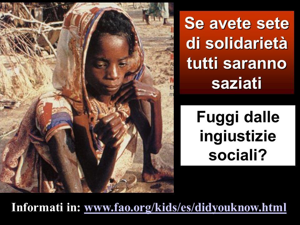Beati quelli che hanno fame e sete della giustizia, perché saranno saziati.