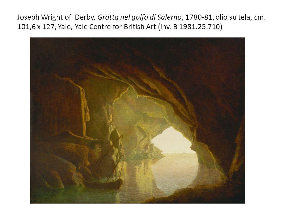 Joseph Wright of Derby, Grotta nel golfo di Salerno, 1780-81, olio su tela, cm. 101,6 x 127, Yale, Yale Centre for British Art (inv. B 1981.25.710)