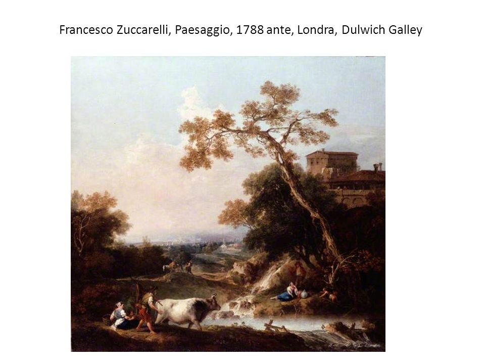 Richard Wilson, La via Nomentana, 1754, New Haven, Yale Center for British Art