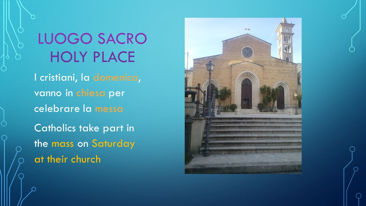 LUOGO SACRO HOLY PLACE I cristiani, la domenica, vanno in chiesa per celebrare la messa Catholics take part in the mass on Saturday at their church