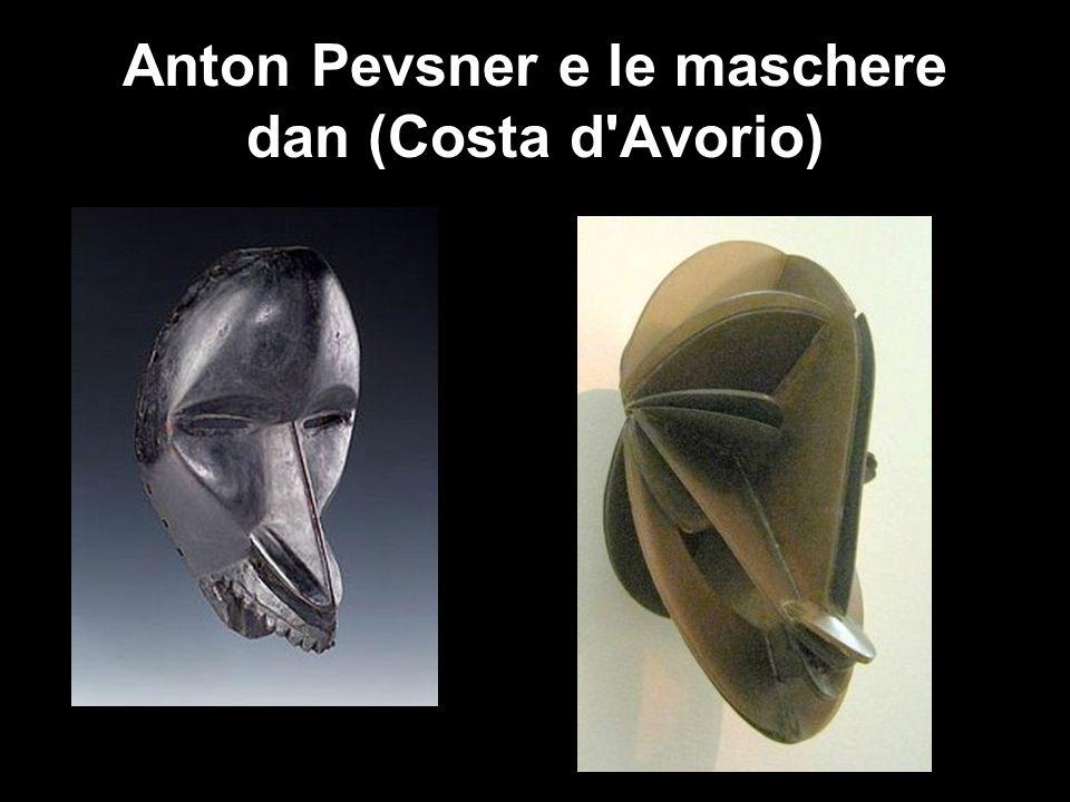 Anton Pevsner e le maschere dan (Costa d'Avorio)