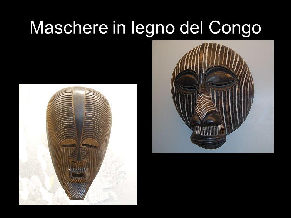 Maschere in legno del Congo