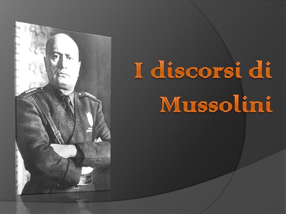 Benito Mussolini Benito Mussolini noto con l appellativo il Duce è stato un uomo politico, giornalista e dittatore italiano.