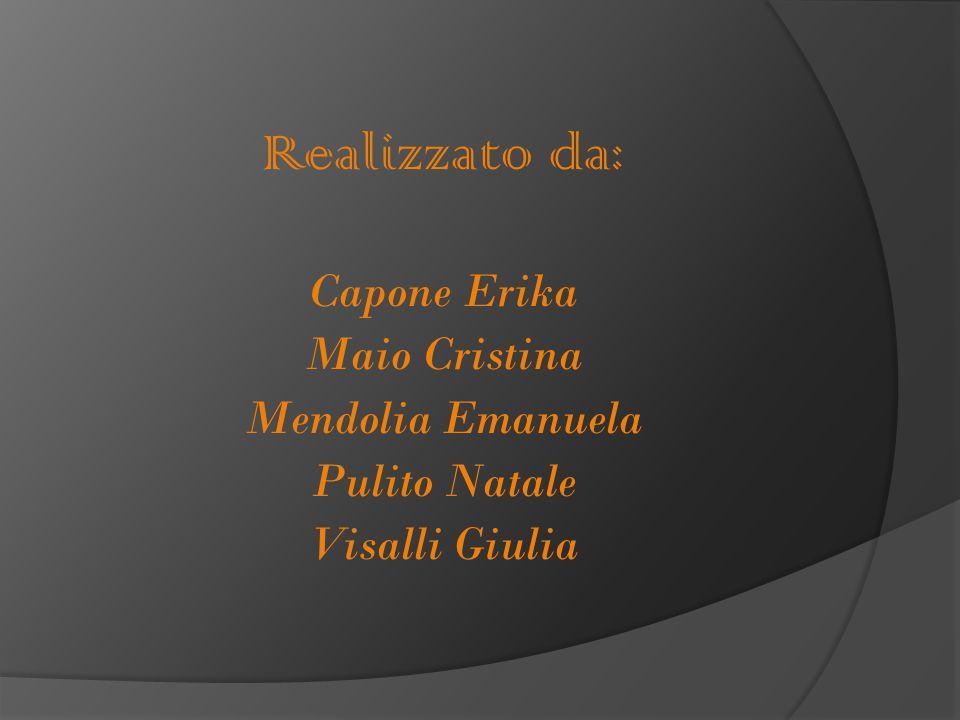 Realizzato da: Capone Erika Maio Cristina Mendolia Emanuela Pulito Natale Visalli Giulia