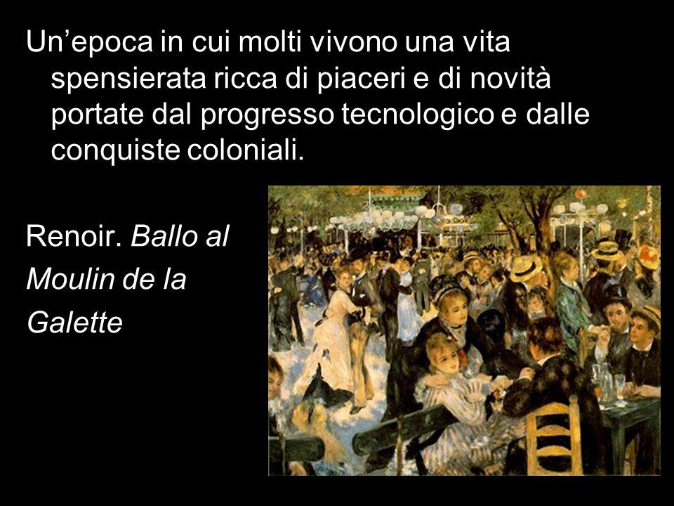 La Belle epoque trasforma le città Un'epoca in cui molti vivono una vita spensierata ricca di piaceri e di novità portate dal progresso tecnologico e