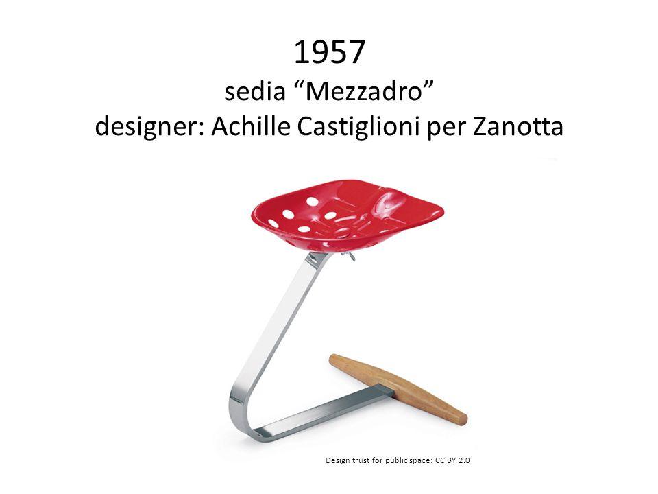 1957 sedia Mezzadro designer: Achille Castiglioni per Zanotta Design trust for public space: CC BY 2.0