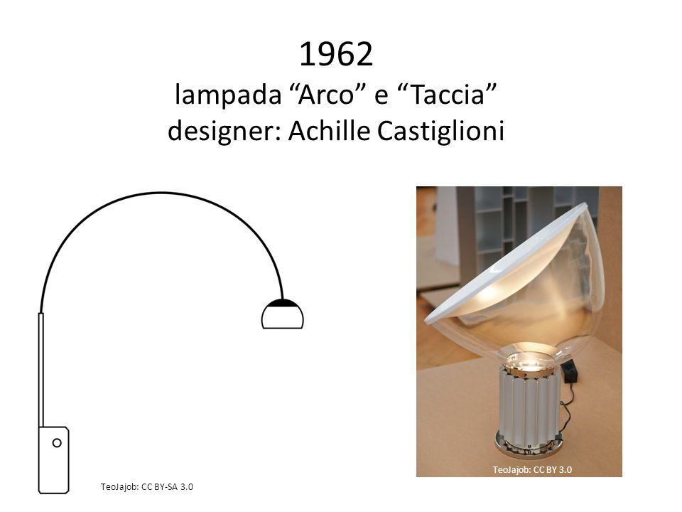 1962 lampada Arco e Taccia designer: Achille Castiglioni TeoJajob: CC BY 3.0 TeoJajob: CC BY-SA 3.0