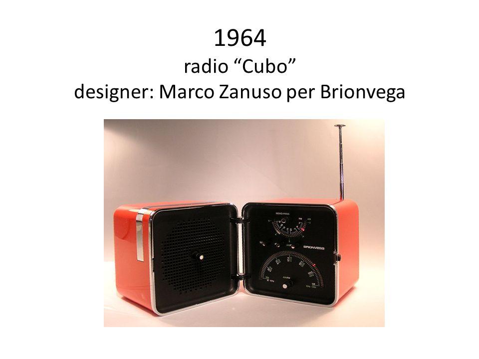 1964 radio Cubo designer: Marco Zanuso per Brionvega