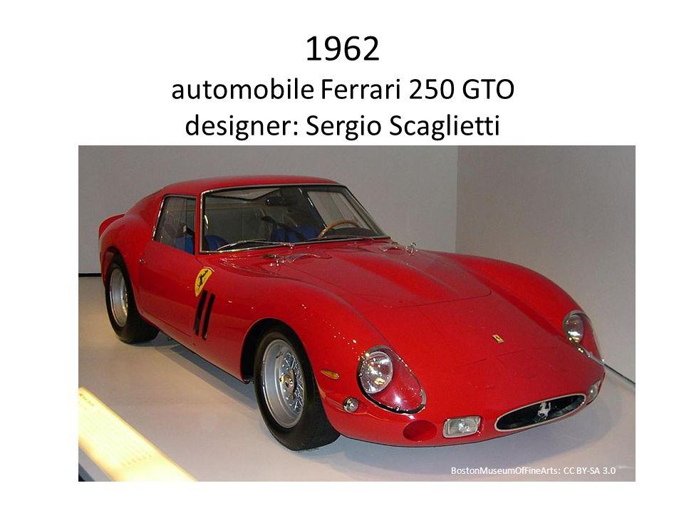 1962 automobile Ferrari 250 GTO designer: Sergio Scaglietti BostonMuseumOfFineArts: CC BY-SA 3.0