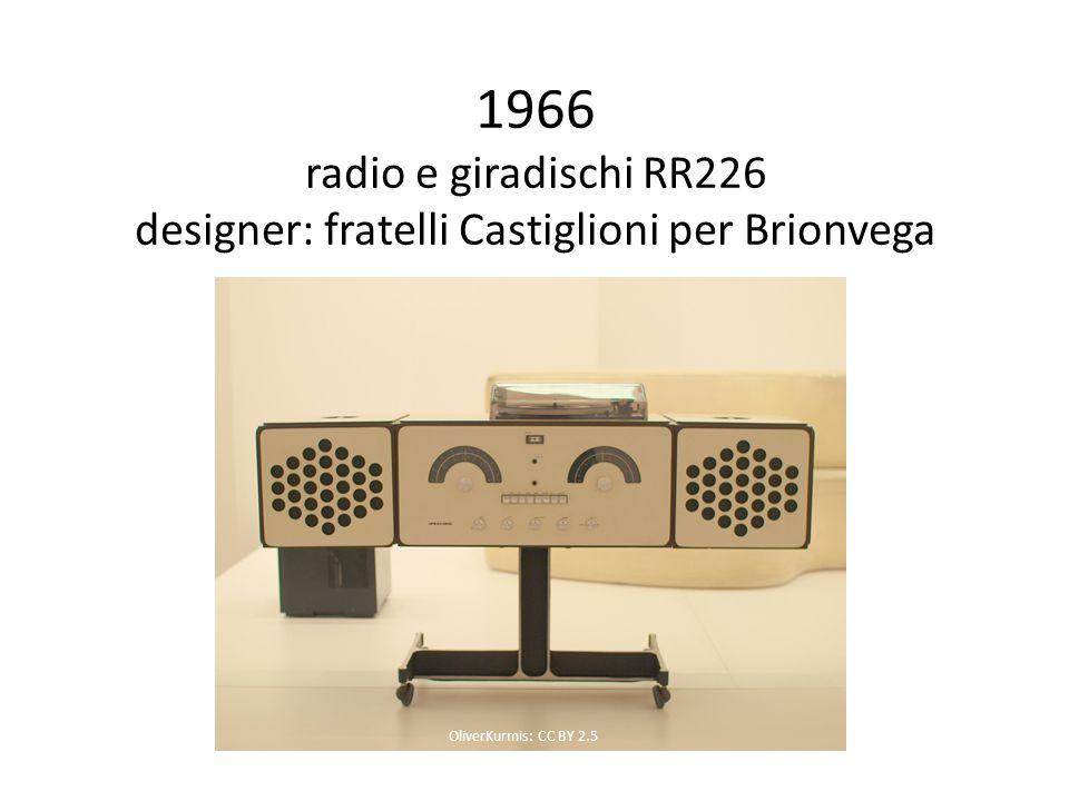 1966 radio e giradischi RR226 designer: fratelli Castiglioni per Brionvega OliverKurmis: CC BY 2.5